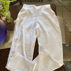 Jlo white flowing pants size XS